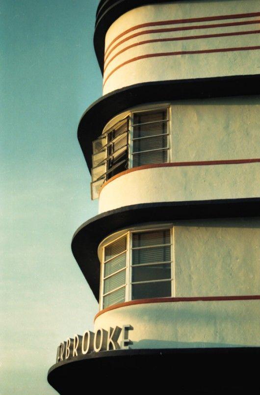 Art Deco Typography Vintage Sign In Miami Turn Of Century