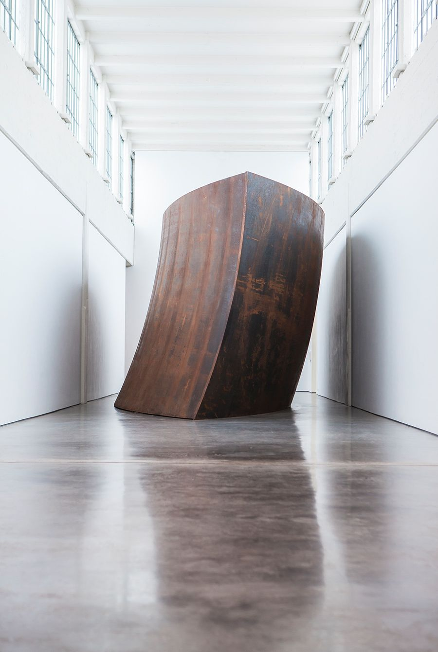 One of the many sculptures by Richard Serra inside the Dia:Beacon.
