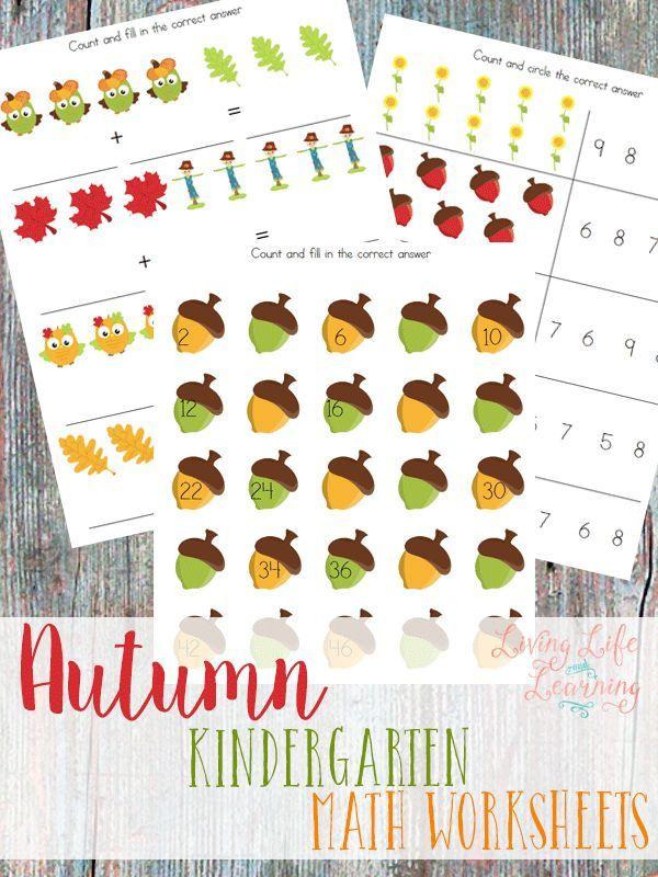 Autumn Kindergarten Math Worksheets | Kindergarten math worksheets ...