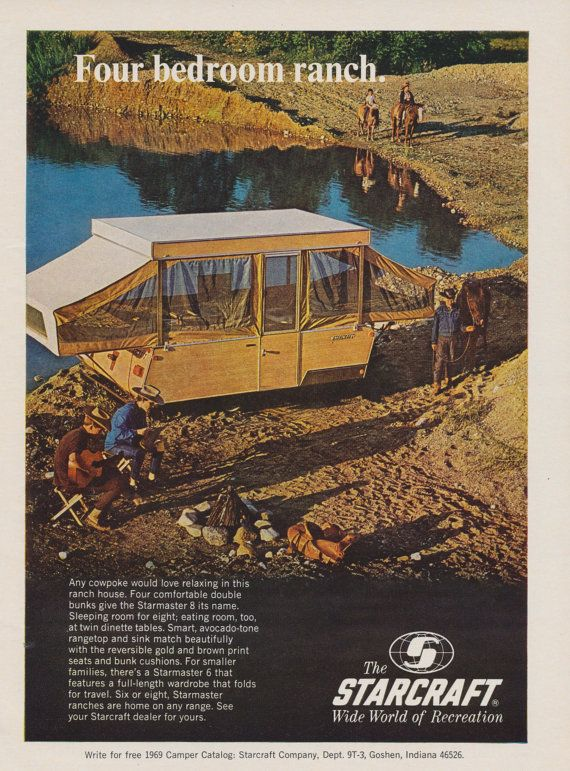 1970 Starcraft Four Bedroom Ranch House Travel Trailer Ad Etsy Travel Trailer Pop Up Tent Trailer Travel House