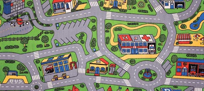 Car Play Mat Play Rug For Cars Street Play Rug Road Play Rug