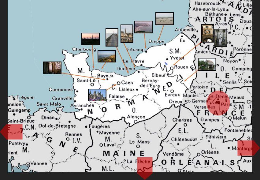Mappa Normandia
