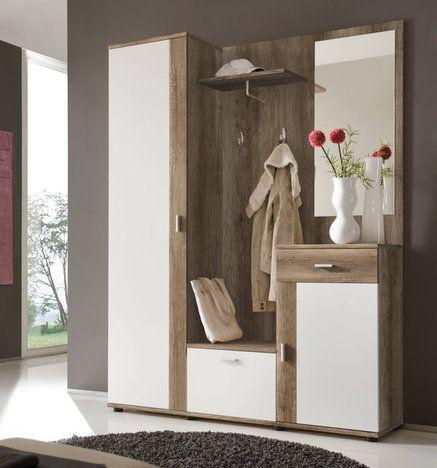 Garderobe Patent Weiss Eiche Antik Garderoben Sets Flur Diele Wohnbereiche Kompaktgarderoben Garderoben Set Sonoma Eiche