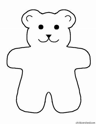 Image result for Printable Bear Pattern | Teddy | Pinterest