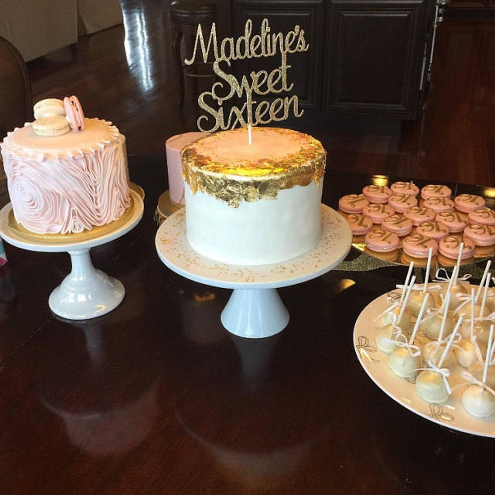 Sweet Sixteen Cake topper Custom birthday cake topper