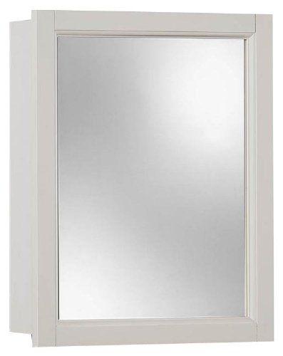 NuTone 755459 Sheridan Framed Medicine Cabinet, Classic White Wood ...