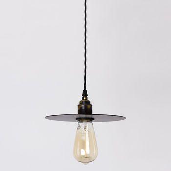 Small Black Disk Pendant Lamp In 2019 Renovation Ideas