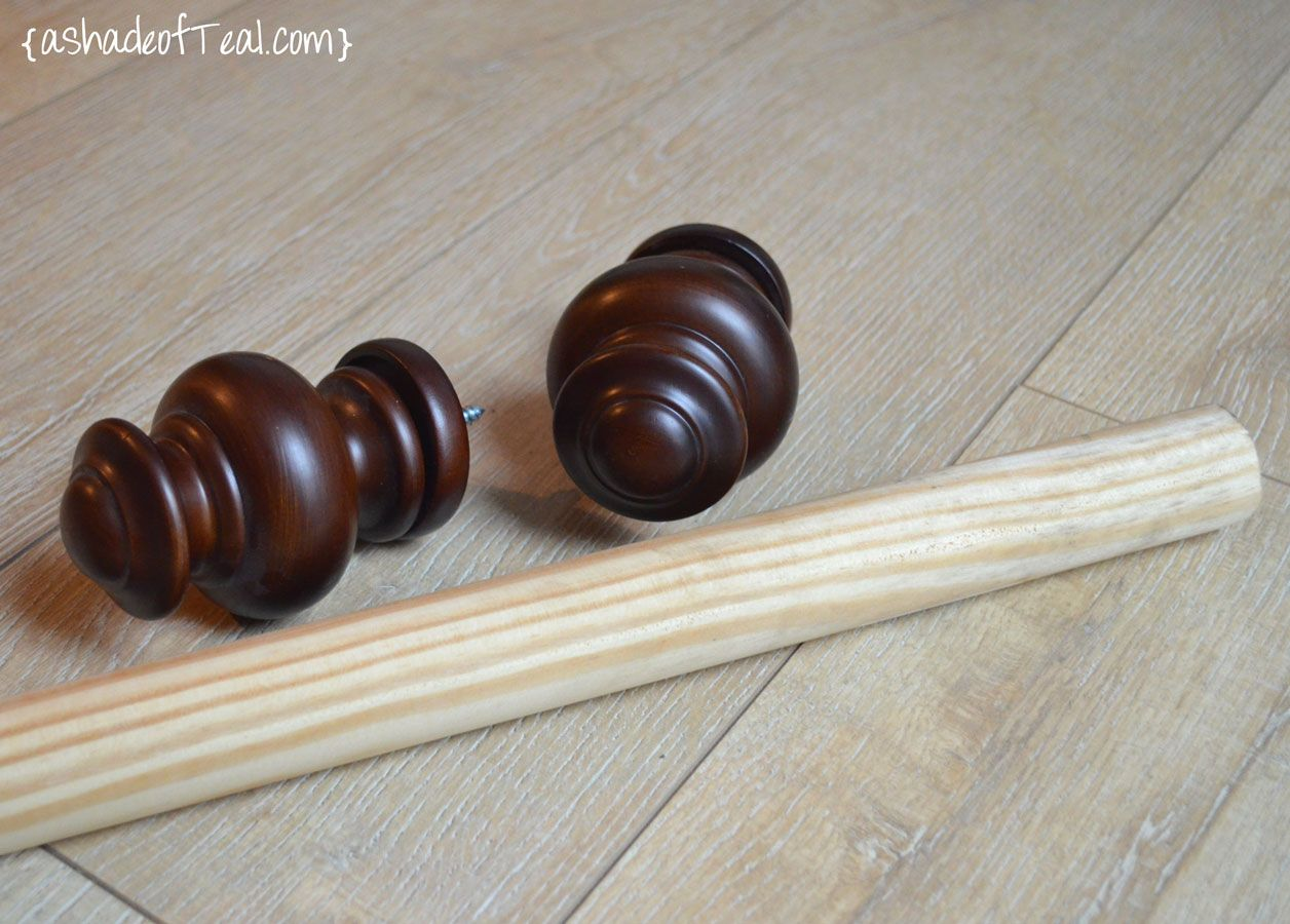 Diy Wood Curtain Rod For Under 20 In 2020 With Images Wood