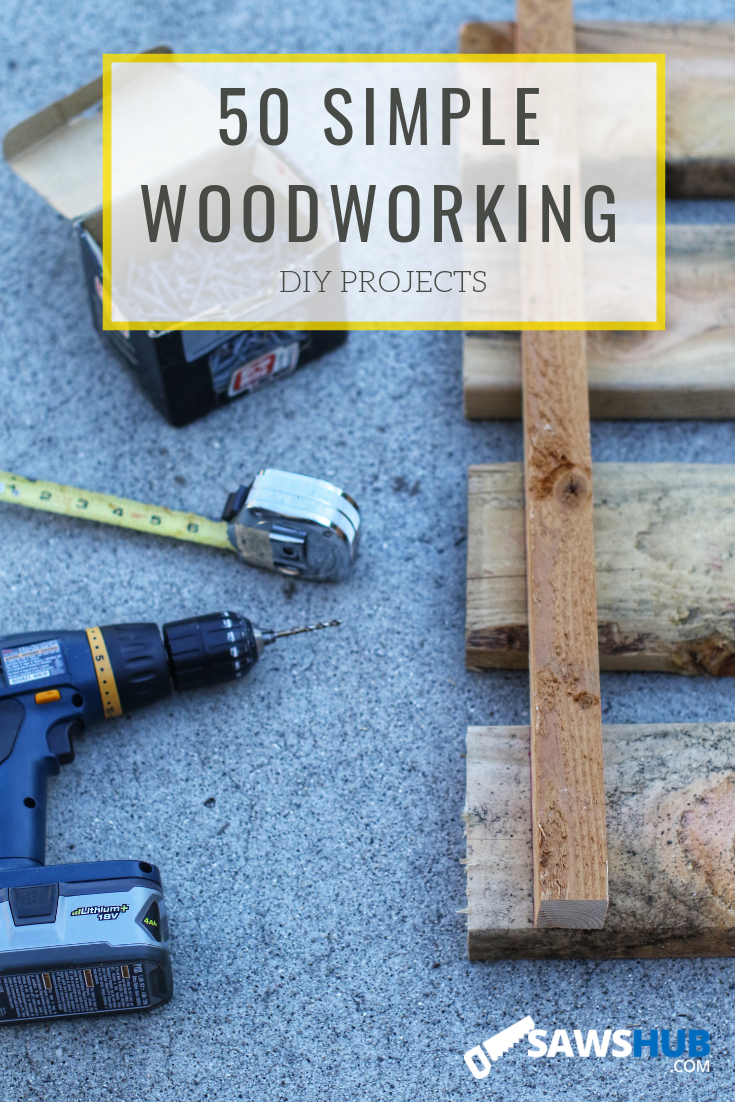 50 Small, Simple, & Easy Beginner Woodworking Projects ...