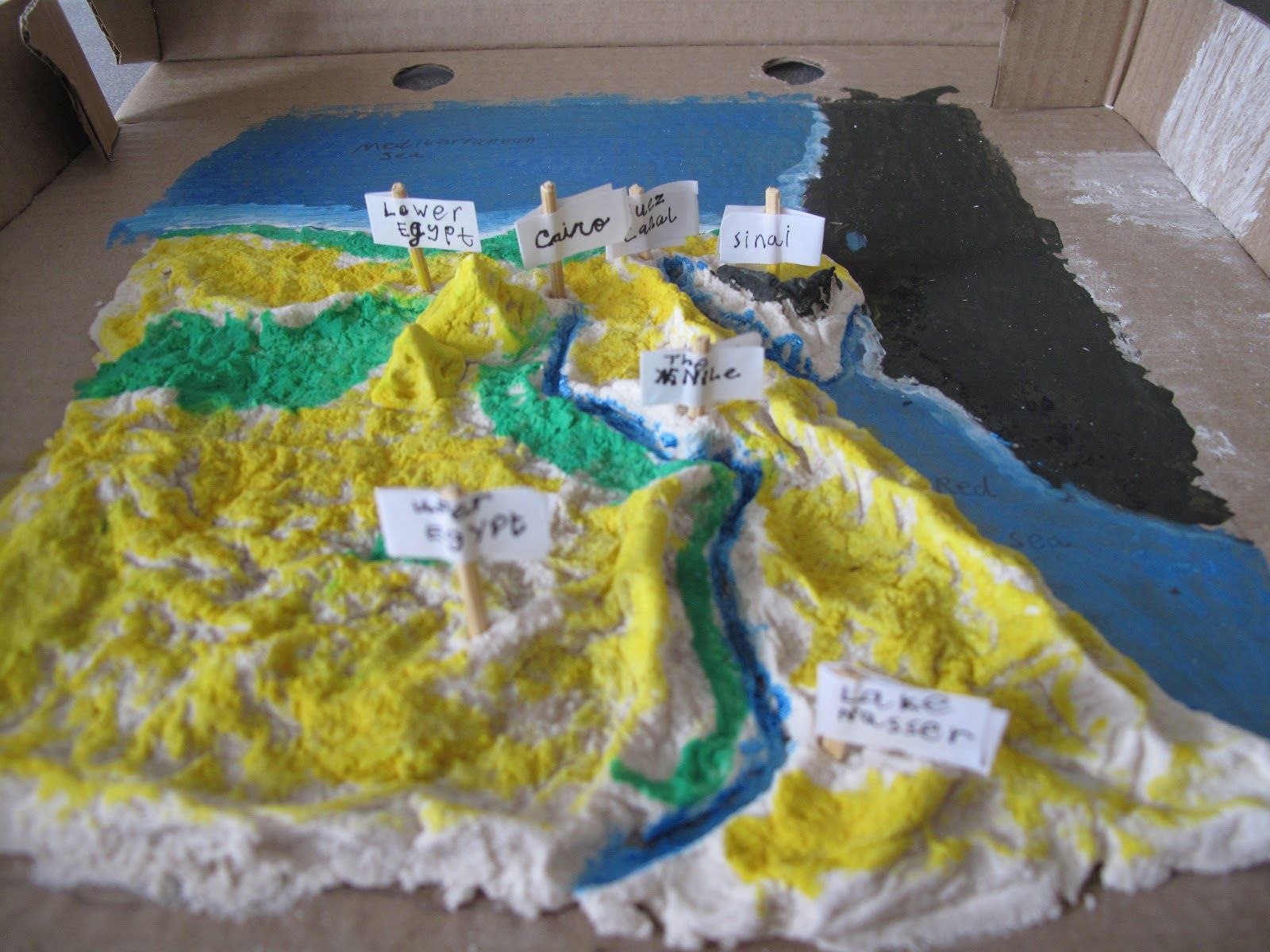 egypt salt map | As You Walk By The Way...: Salt Dough Map of Egypt ...