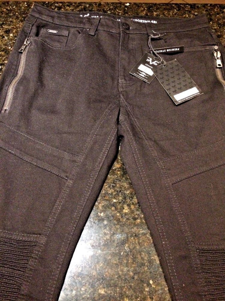1e0c8adbc1 NWT! $118 Versace V 19 69 Slim Fit Cargo Jeans Men 36 W x 30 L 1969 ...