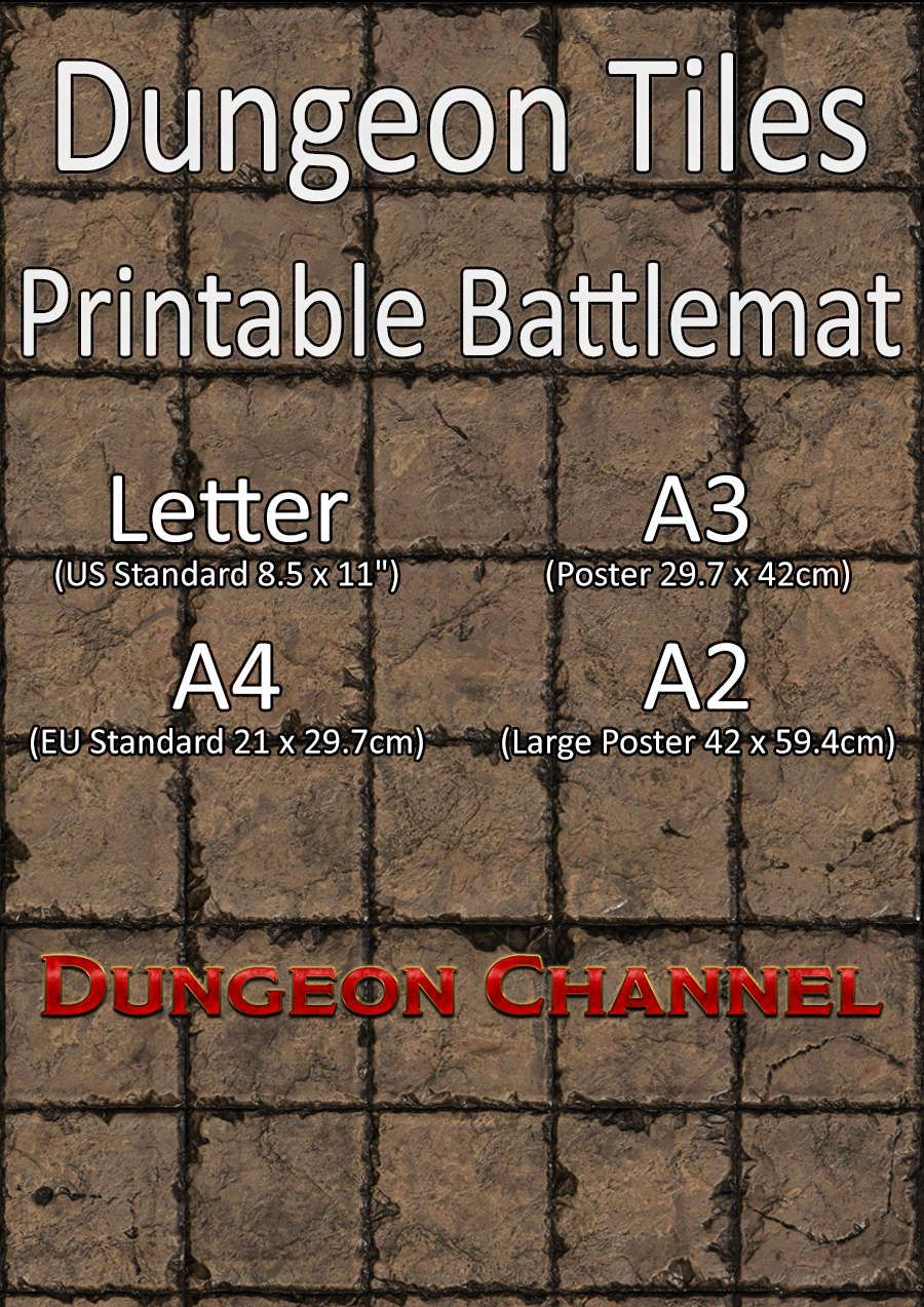 picture regarding Printable Dungeon Tiles titled Dungeon Tiles Printable Battlemat Channel Drivethrurpg