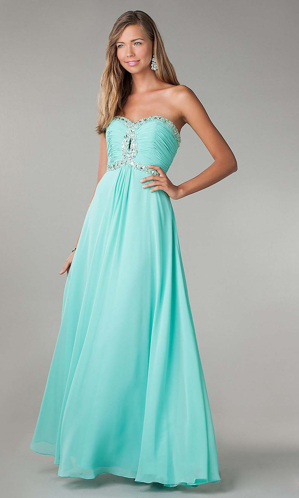 tiffany blue prom dress, long prom dress, chiffon prom dress, purple ...