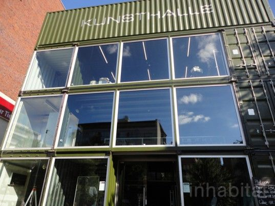 green design, eco design, sustainable design, shipping container, Berlin, Cargotecture, PLATOON, PLATOON Kunsthalle, cultural center
