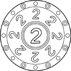 Zahlen Mandala 2 Zahl Zwei Mandala Ausmalen Spiele