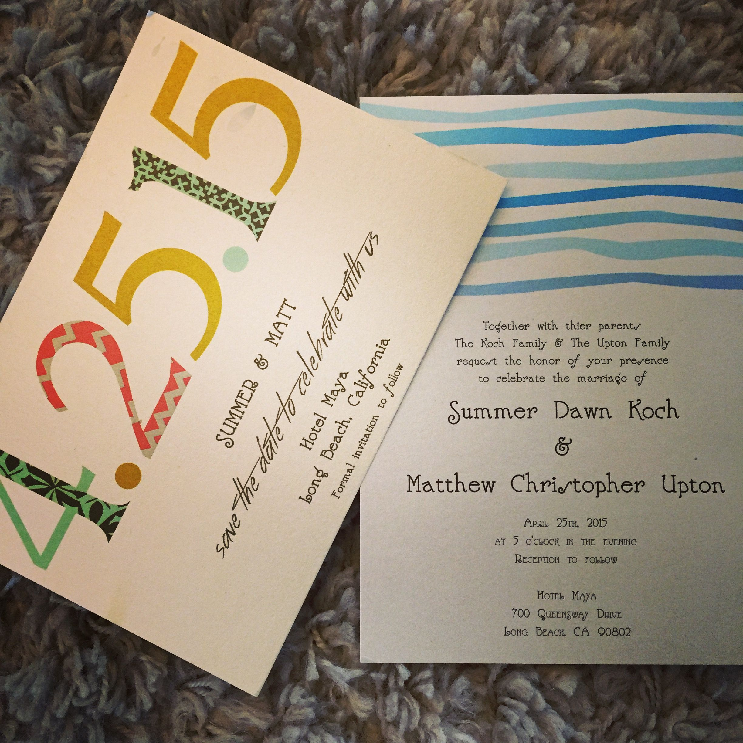 Press To Paper designed save the dates and wedding invitation to go with this simple mayan beach inspired wedding. #presstopaper #weddinginvitations #savethedates