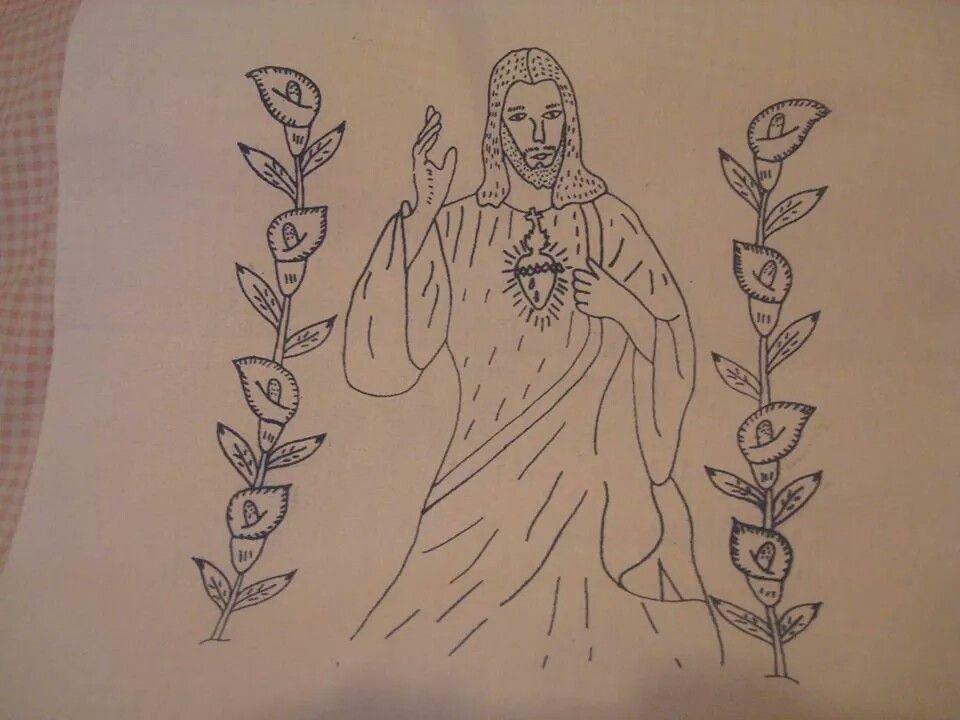Dibujo del Sagrado Corazon de Jesus | Dibujos | Pinterest | Sagrados ...