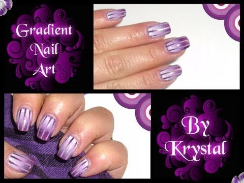 Gradient Nail Art Tutorial   By Krystal .wmv