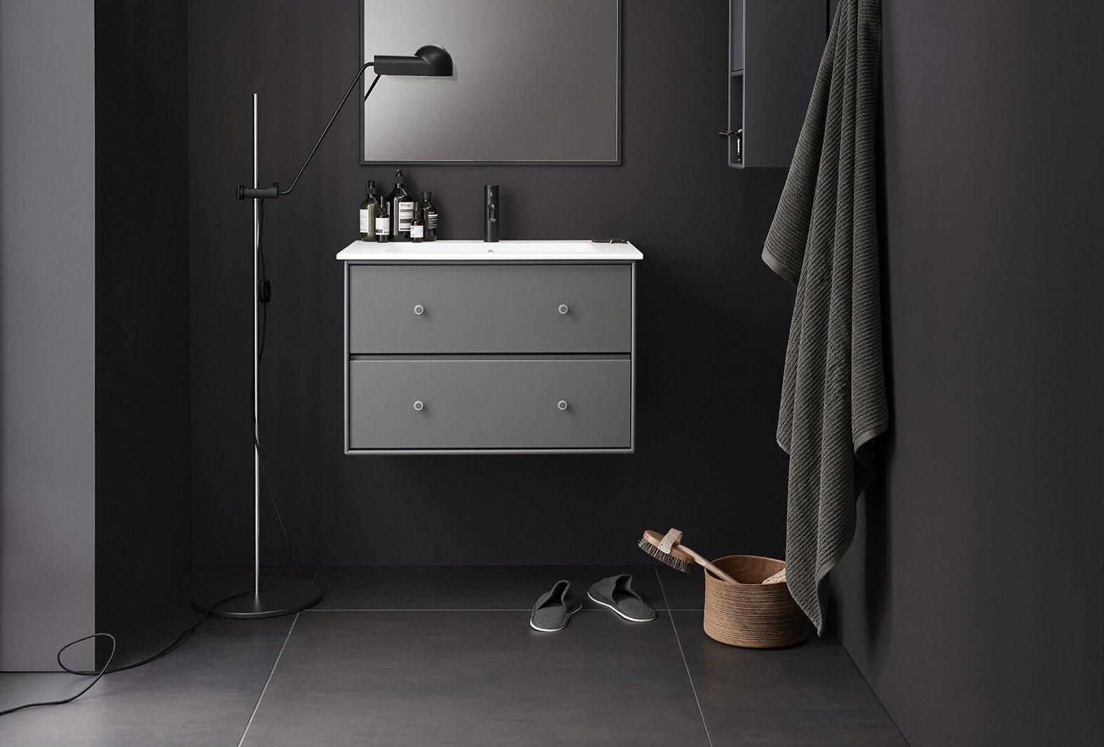 Montana Waschmodul Und Spiegel In Der Farbe Coffee In 2020 Badezimmer Inspiration Badezimmer Waschbecken Einbauwaschbecken