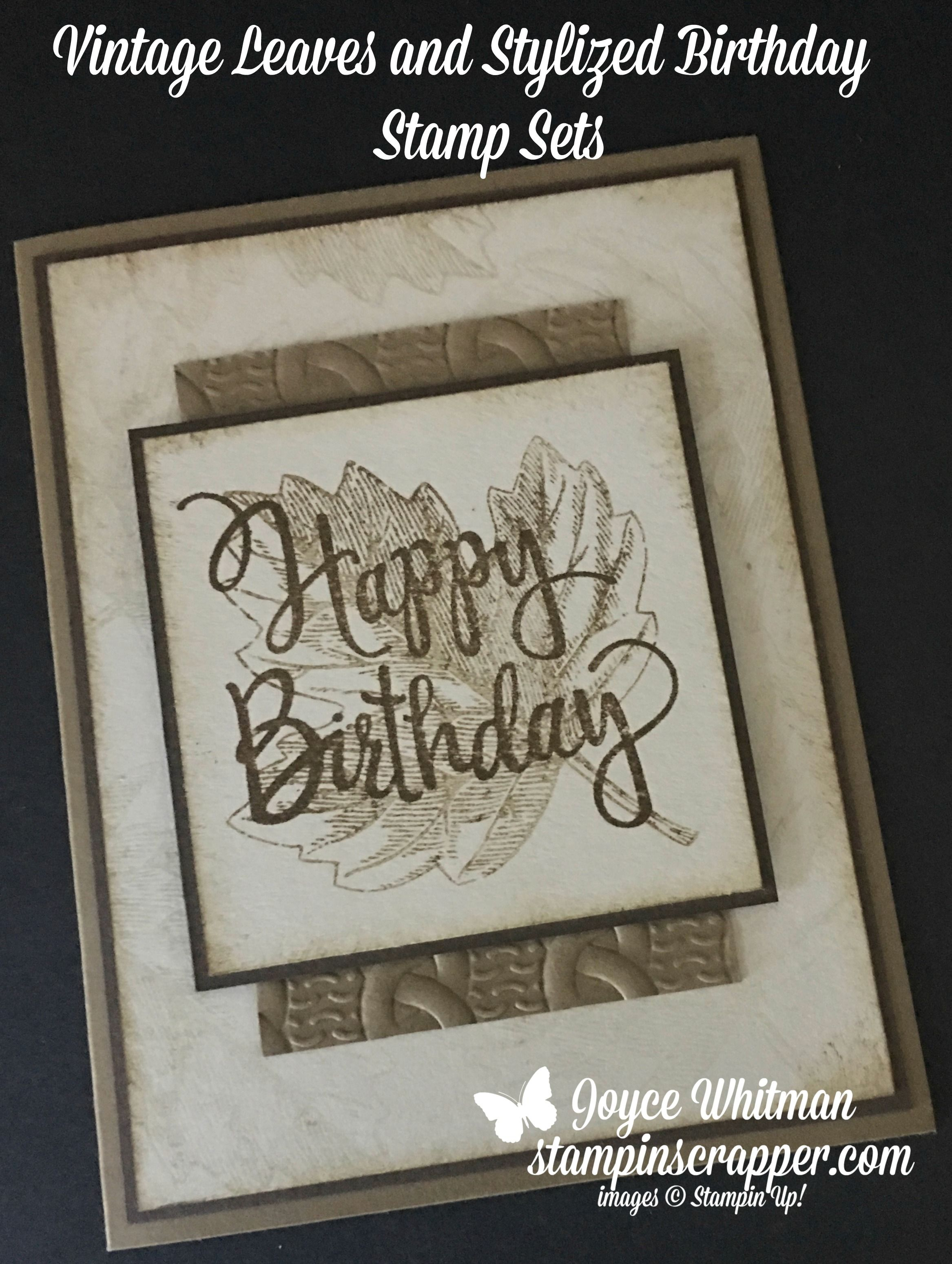 I Love How Stampin Up Demonstrators Share Their Creations And Ideas With Each Other This Is One Of Those Cards Thought It Was A Perfect Masculine