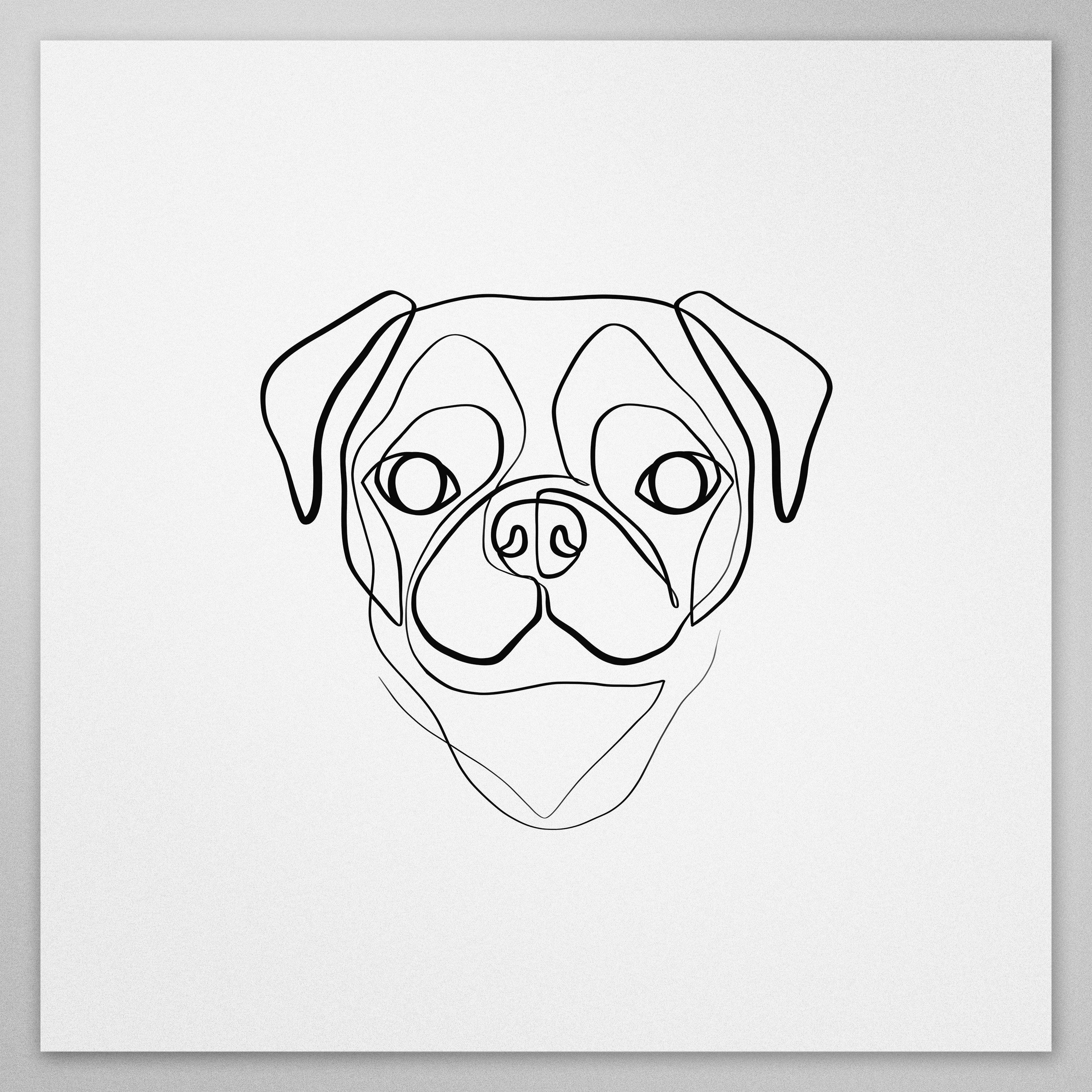 Gifts For Pug Lovers Best Selling Pug Print Minimal Pug Pug Art