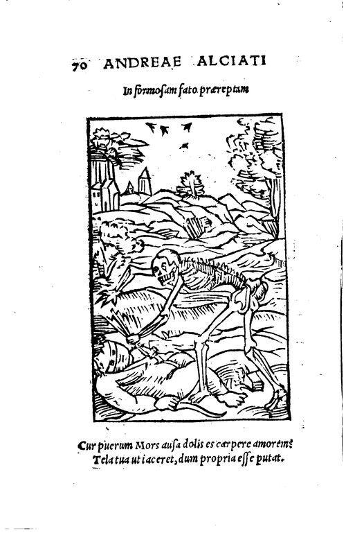 """""""In formosam fato praereptam"""", Emblèmes d'Alciat, 1544 #LivreAncien"""
