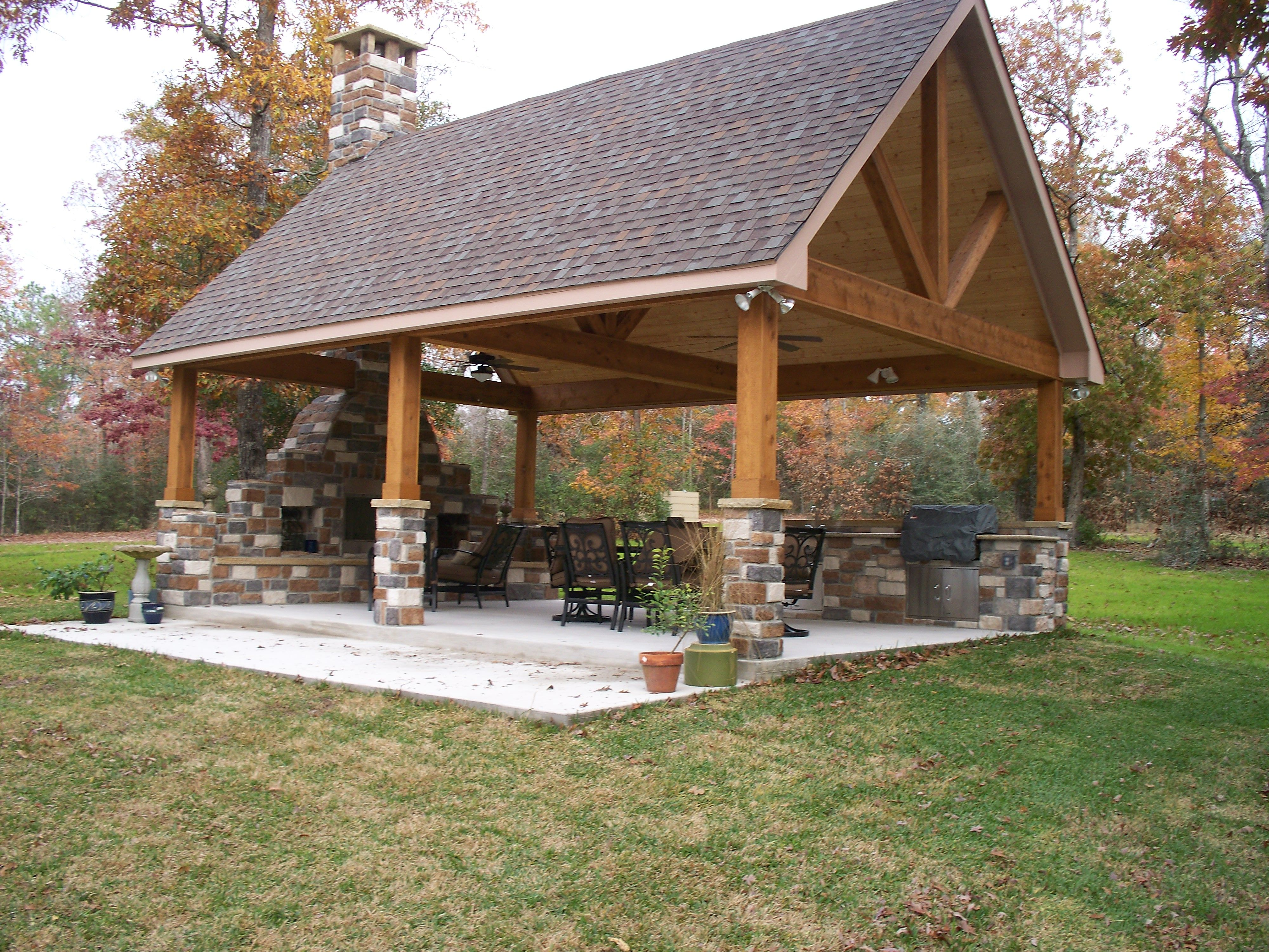 The Patio Backyard Pavilion Outdoor Pavilion Backyard