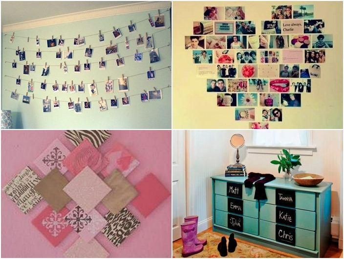 Photo On The Wall Diy Decorating The Bedroom To Make It Look Beautiful And With Bedroom Cabinet Drawer Diy Projects For Bedroom Bedroom Diy Cute Diy Room Decor