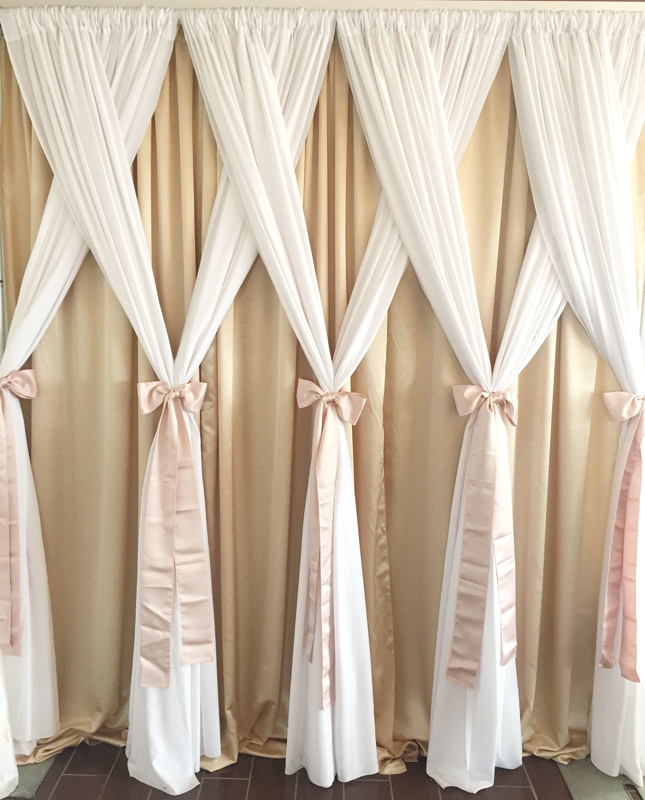 rent and pipe ivory rentals chiffon price poly black foot section in listed drapes other party available is per high white drape for