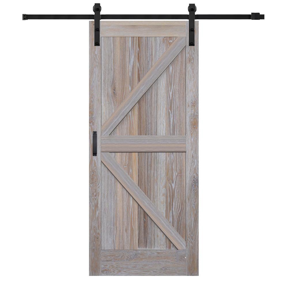 Mmi Door 42 In X 84 In Rustic White Oak K Planked Prefinished