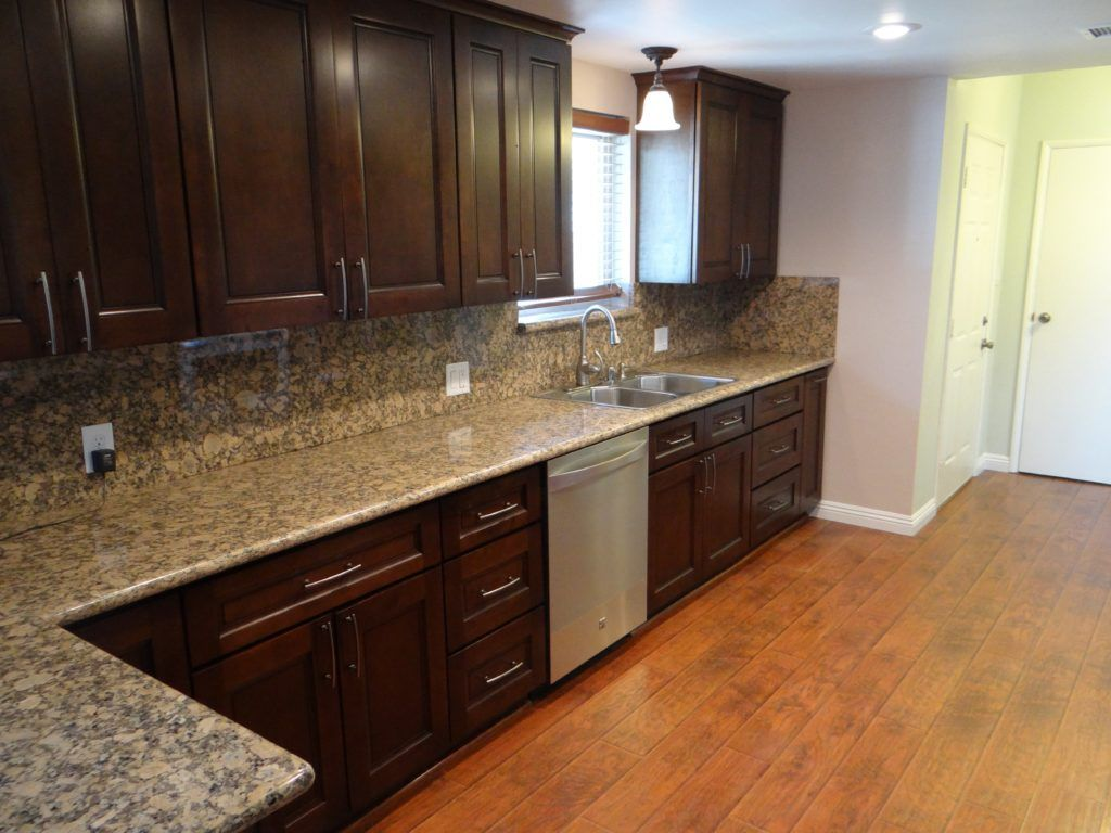 Galley Kitchen With Espresso Cabinets Kitchen Cabinet Design Custom Kitchen Cabinets Espresso Cabinets