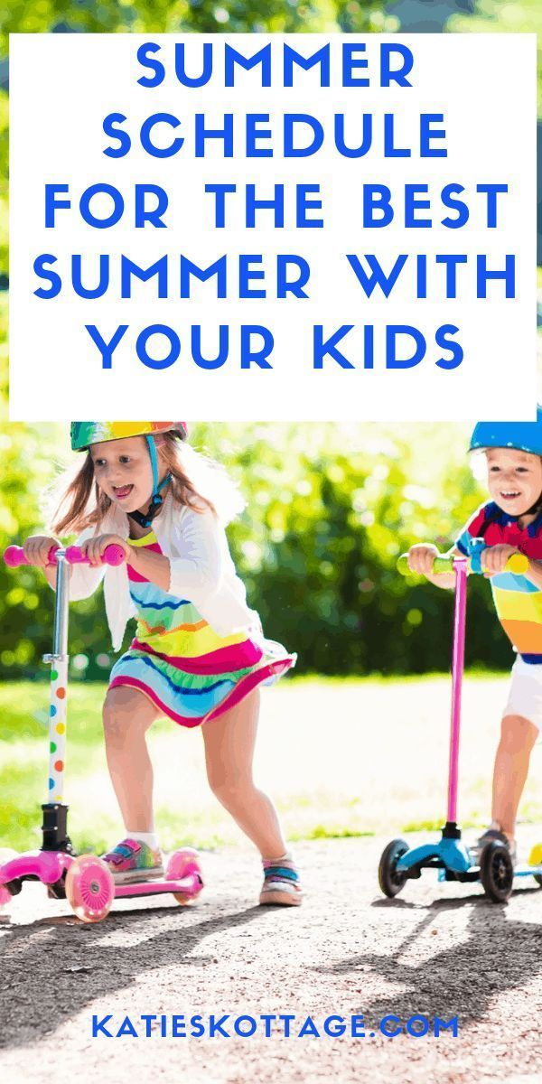 Summer Schedule For Kids - Have Fun With These Weekly Activities #summerschedule A summer schedule for the best summer with your kids. Summer schedule for kids | summer schedule for kids stay at home mom | Summer activities for kids | Use this free printable summer schedule for kids to help you and your kids have the best summer ever. I've listed the schedule and tons of activities for each day in this blog post. These screen free activities will help you kids build amazing childhood memories. # #summerschedule