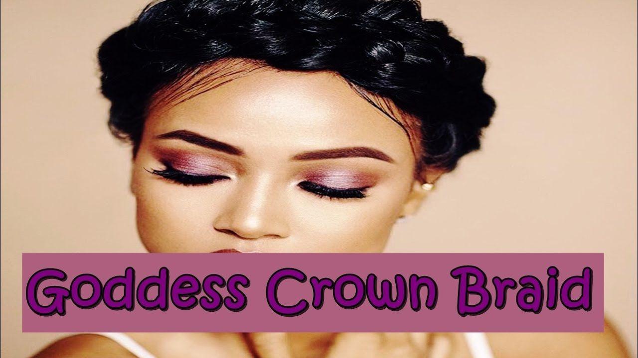 beautiful goddess crown braid hairstyles