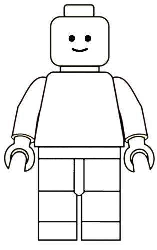 Bonhomme vide carte lego pinterest bonhomme vide et lego - Coloriage personnage lego ...
