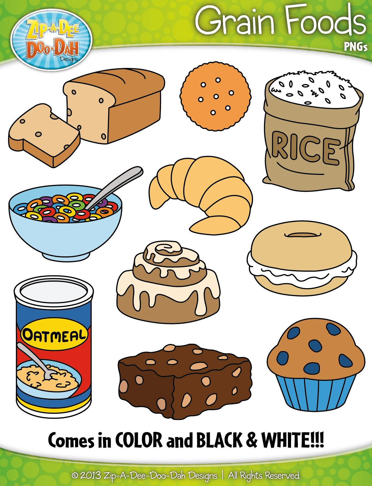 Grain Foods Clipart Zip A Dee Doo Dah Designs