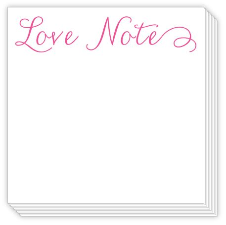 Love Notes Chunky Notepad from Rosanne Beck