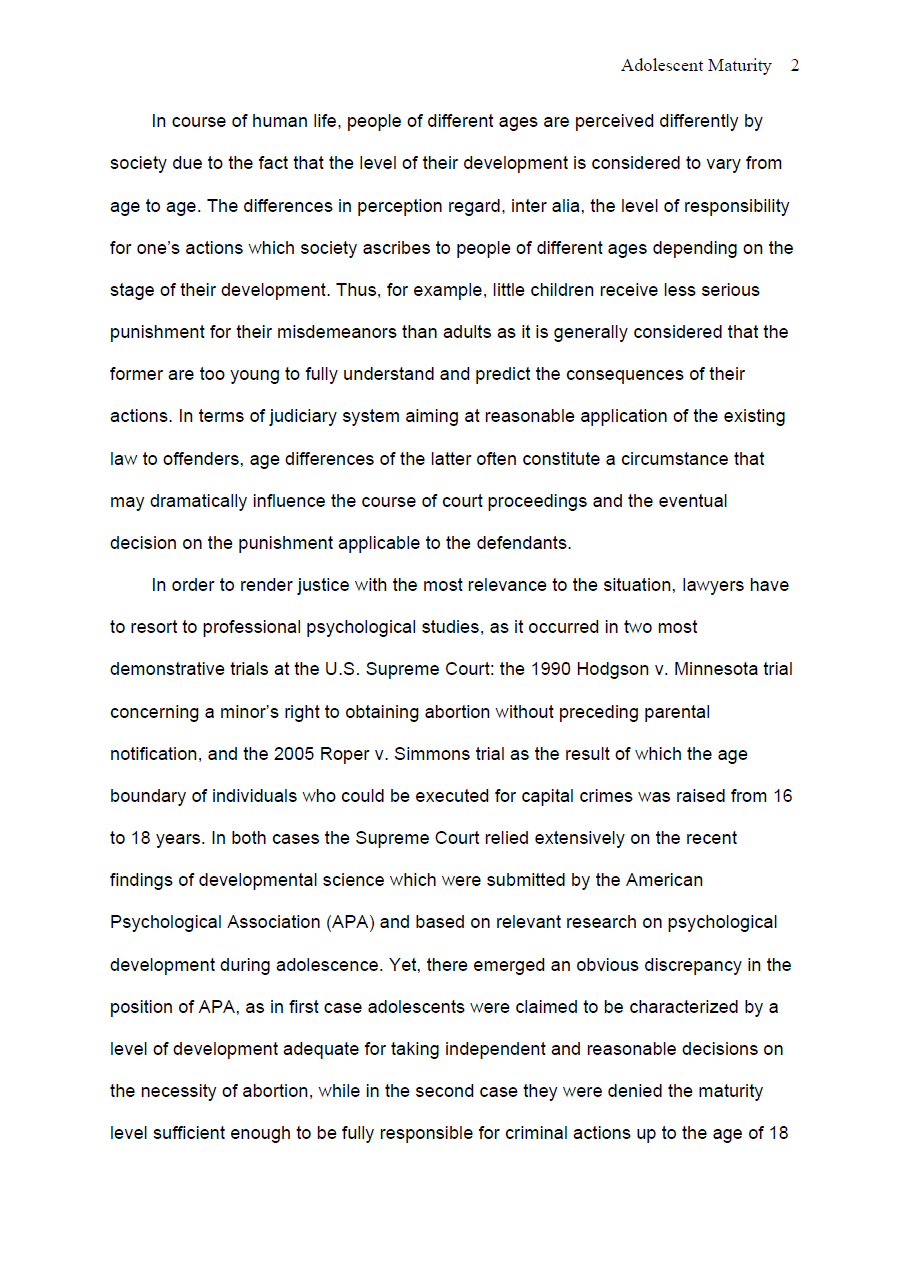 Adolescent Maturity Summary Essay Page 1 Example Persuasive Topics Value And Belief Personal In Nursing Profession My Filipino