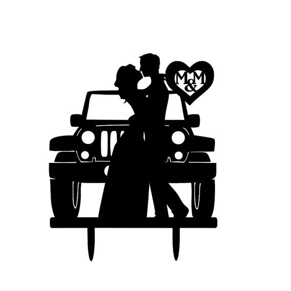 Jeep Couple Wedding Cake Topper By 1TheCherryOnTop