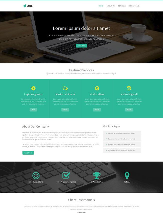 One is a free bootstrap html5 website template free business html one is a free bootstrap html5 website template flashek Image collections