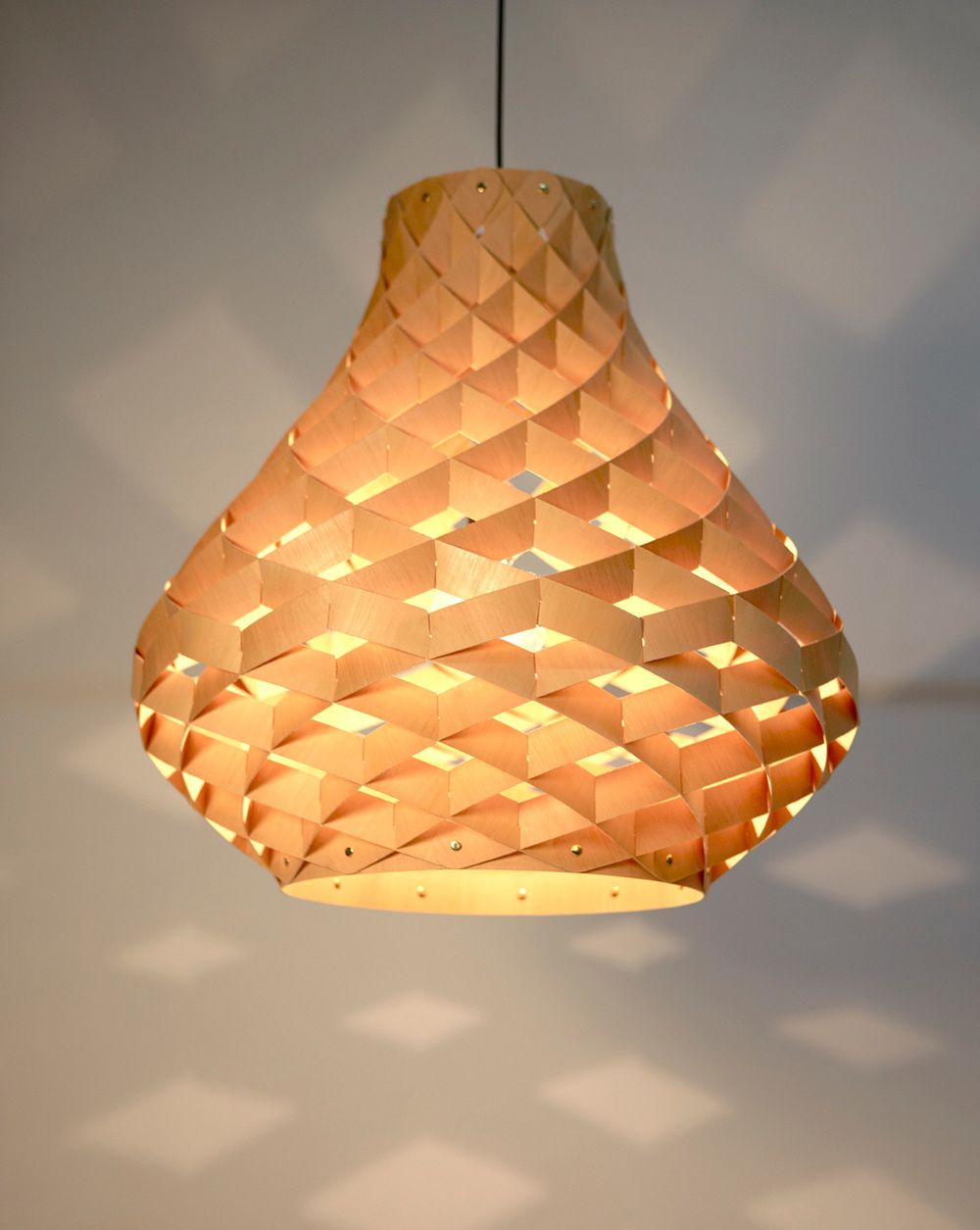 Weave Pendant Edward Linacre Bamboo Light Ply