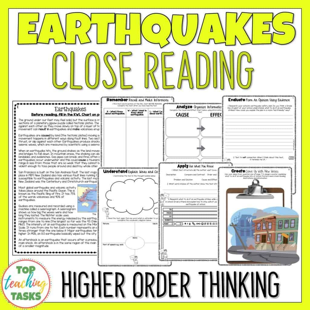 Natural Disasters Reading Comprehension Passages And