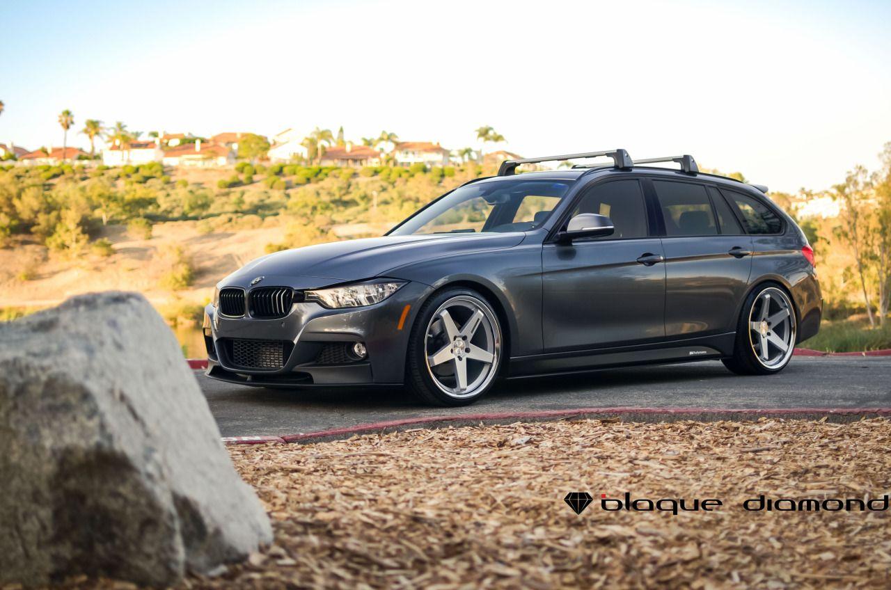 2016 Bmw 328d M Sports Wagon Ed With 20 Inch Blaque Diamond Bd 21 S In Silver W Chrome Ss Lip