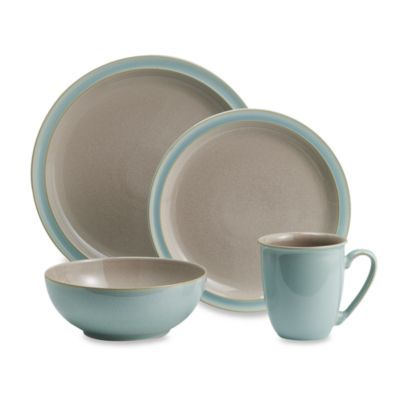 Denby Duets 4-Piece Place Setting in Taupe/Blue - BedBathandBeyond.com  sc 1 st  Pinterest & Denby Duets 4-Piece Place Setting in Taupe/Blue - BedBathandBeyond ...
