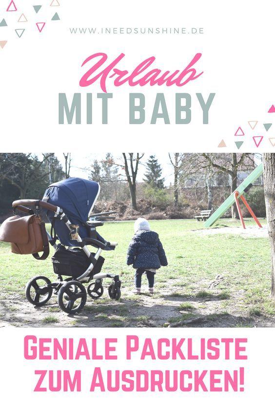 """checkliste urlaub mit baby """"pdfvorlage zum ausdrucken"""
