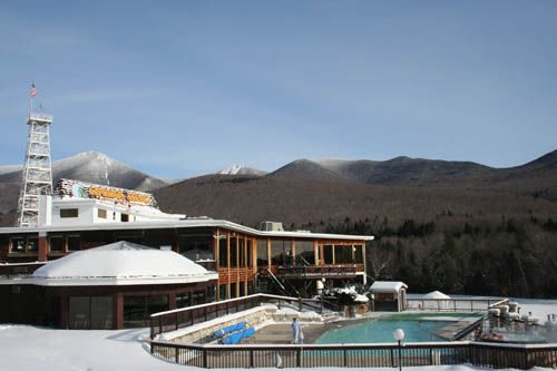 Indian Head Resort Winter Getaways - Outdoor Heated Pool  and Hot Spa OPEN all Winter! Lincoln, New Hampshire