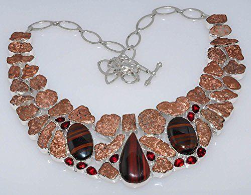 925silvercharm Copper Nuggets Red Garnet 925 Sterling Silver Plated Necklace 925silvercharm http://www.amazon.in/dp/B00XW18VHS/ref=cm_sw_r_pi_dp_3OR.vb17F59YE