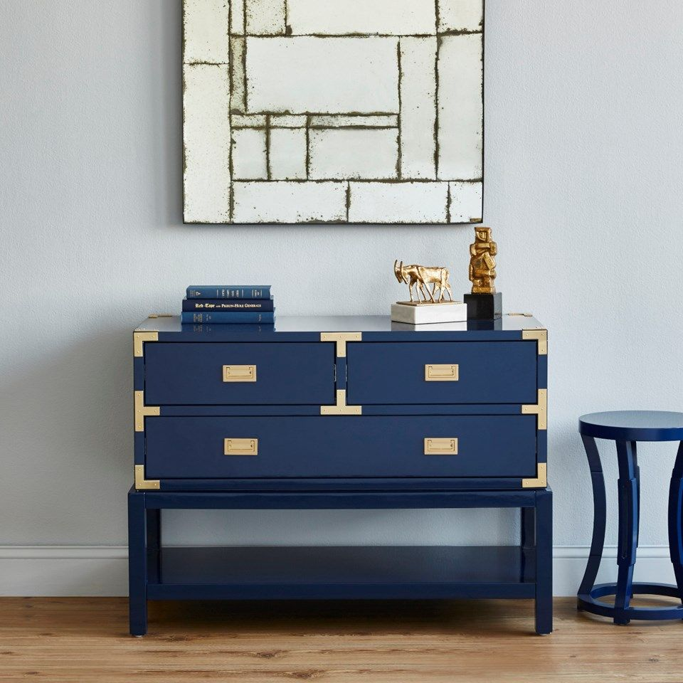 Tansu Console Table Navy Blue Bungalow 5 With Images Blue