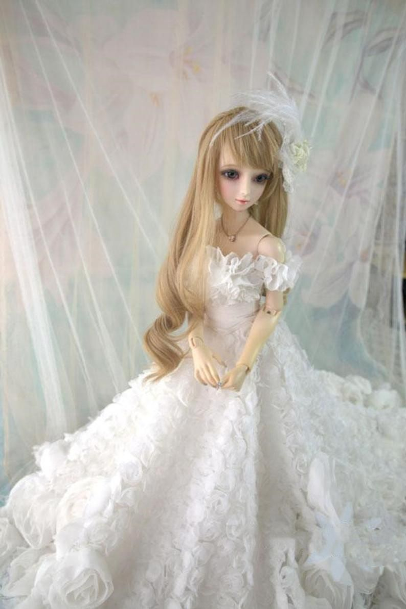 Custom Doll Dress White Flower BJD Doll Clothes Outift,1/6 1/4 1/3 Bjd Clothes for Smart Doll/SD/DD/