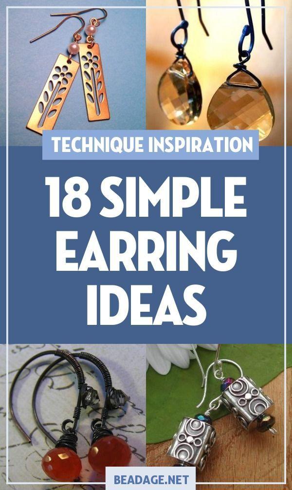 Photo of 18 Einfache und einfache Ideen zur Herstellung von Ohrringen – Schmuckherstellung