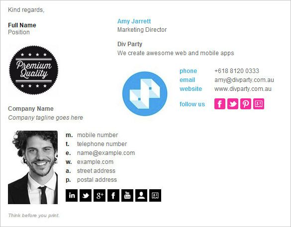 21+ Best Email Signature Generators, Tools & Online Makers